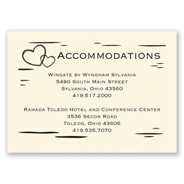 Birch Bark Heart - Ecru - Accommodations Card