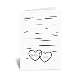 Birch Bark Heart - Note Card and Envelope