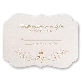 Disney - Luxurious Rose Response Card