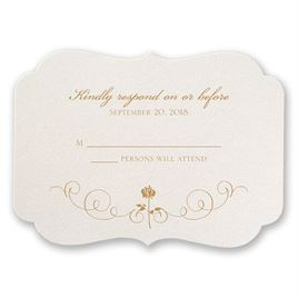 Disney - Luxurious Rose Response Card