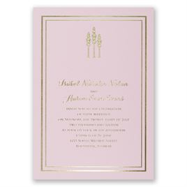 Choose Your Design - Pink - Foil Invitation