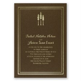 Choose Your Design - Brown Shimmer - Foil Invitation