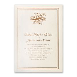 Choose Your Design - Ecru Shimmer - Foil Invitation