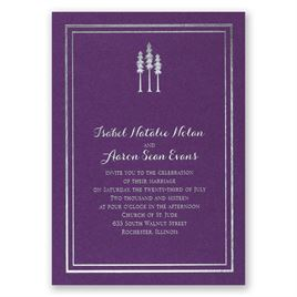 Choose Your Design - Purple Shimmer - Foil Invitation