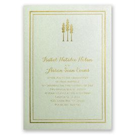 Choose Your Design - Pistachio Shimmer - Foil Invitation