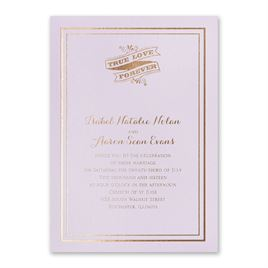 Choose Your Design - Lilac Shimmer - Foil Invitation