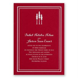 Choose Your Design - Red- Foil Invitation