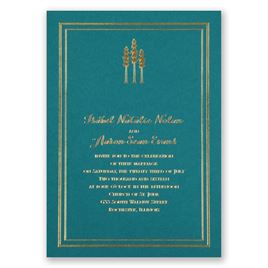 Choose Your Design - Teal - Foil Invitation