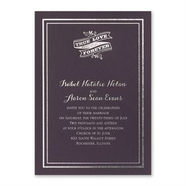 Choose Your Design - Eggplant - Foil Invitation