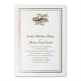 Choose Your Design - White Shimmer - Foil Invitation