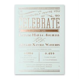 Big News - Mist Shimmer - Foil Invitation