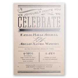 Big News - Blush Shimmer - Foil Invitation