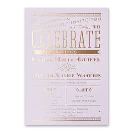 Big News - Lilac Shimmer - Foil Invitation