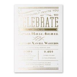 Big News - White Shimmer - Foil Invitation