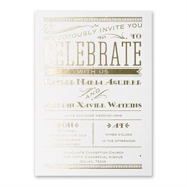 Big News - White Shimmer - Foil Invitation