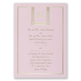 Refined Style - Pink - Foil Invitation