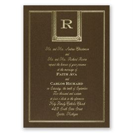 Refined Style - Brown Shimmer - Foil Invitation