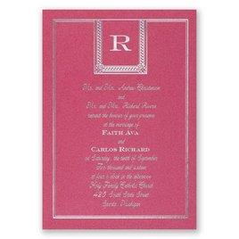 Refined Style - Fuchsia Shimmer - Foil Invitation