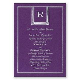 Refined Style - Purple Shimmer - Foil Invitation