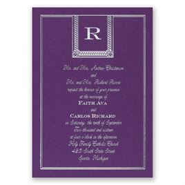 Refined Style - Purple Shimmer - Foil Invitation