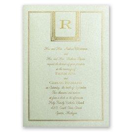 Refined Style - Pistachio Shimmer - Foil Invitation