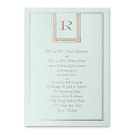 Refined Style - Mist Shimmer - Foil Invitation
