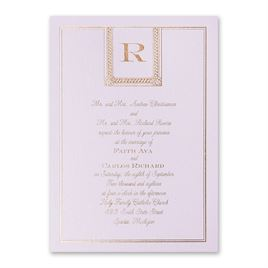 Refined Style - Lilac Shimmer - Foil Invitation