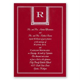 Refined Style - Red - Foil Invitation