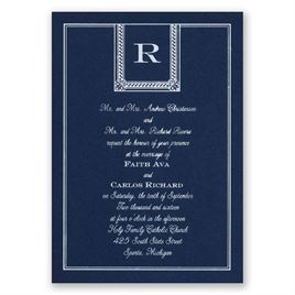 Refined Style - Navy - Foil Invitation
