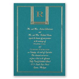 Refined Style - Teal - Foil Invitation