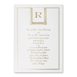 Refined Style - White Shimmer - Foil Invitation