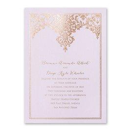 Demure Damask - Lilac Shimmer - Foil Invitation