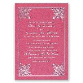 Forever Flourish - Fuchsia Shimmer - Foil Invitation