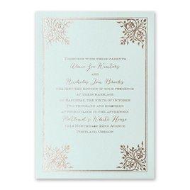 Forever Flourish - Mist Shimmer - Foil Invitation