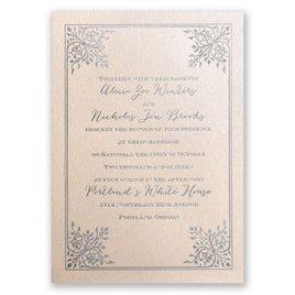 Forever Flourish - Blush Shimmer - Foil Invitation