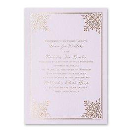 Forever Flourish - Lilac Shimmer - Foil Invitation