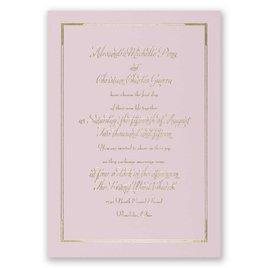 Looking Sharp - Pink - Foil Invitation