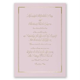 Looking Sharp - Pink - Foil Invitation