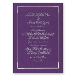Looking Sharp - Purple Shimmer - Foil Invitation