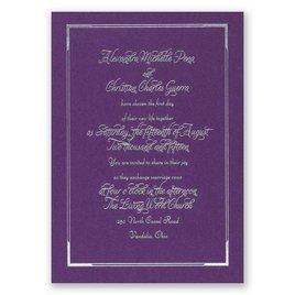 Looking Sharp - Purple Shimmer - Foil Invitation
