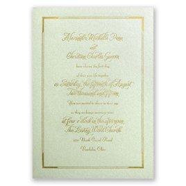 Looking Sharp - Pistachio Shimmer - Foil Invitation