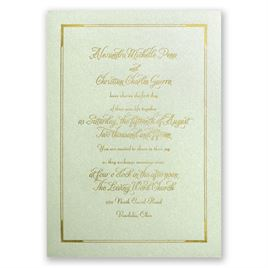 Looking Sharp - Pistachio Shimmer - Foil Invitation