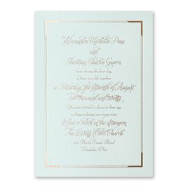 Looking Sharp - Mist Shimmer - Foil Invitation