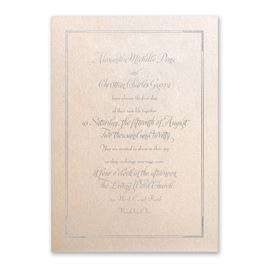 Looking Sharp - Blush Shimmer - Foil Invitation