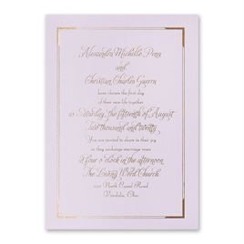 Looking Sharp - Lilac Shimmer - Foil Invitation