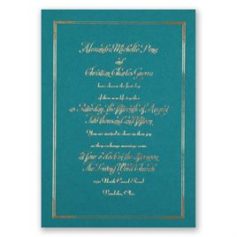 Looking Sharp - Teal - Foil Invitation