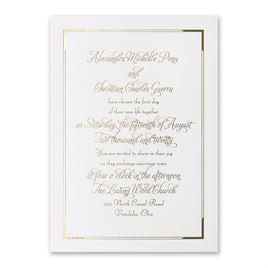 Looking Sharp - White Shimmer - Foil Invitation