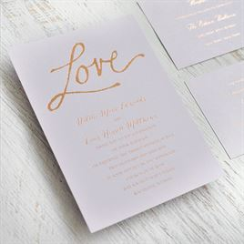 Pure Love - Black Shimmer - Foil Invitation