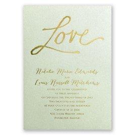 Pure Love - Pistachio Shimmer - Foil Invitation