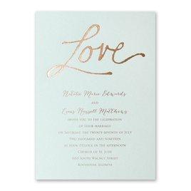 Pure Love - Mist Shimmer - Foil Invitation